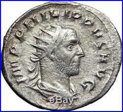 Philip I'the Arab' 247AD Silver Ancient Roman Coin Annona Grain supply i73272