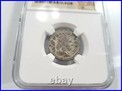 Philip II Roman Empire NGC AU Double Denarius AD 247-249 Ancient Silver Coin
