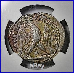 Phoenicia Tyre Geta 209-211 AD AR Silver Tetradrachm NGC XF Ancient Roman Coin