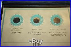 Postal Commemorative Society Ancient Roman Coins from the Constantine Era with COA