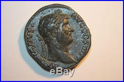 QUALITY ANCIENT ROMAN HADRIAN AS COIN 2nd CENT AD DIANA STANDING
