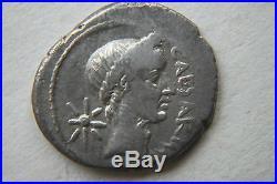 QUALITY ANCIENT ROMAN PORTRAIT JULIUS CAESAR SILVER DENARIUS COIN 1st CENTURY BC