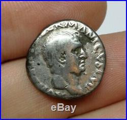 RARE Ancient Roman Imperial Vitellius 69 AD Silver Denarius Coin VF