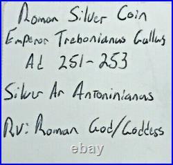 RARE Ancient Roman Silver Coin AD 251/253 RRRSC100