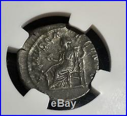 RARE Ancient Roman Silver Coin JULIA SOAEMIAS AD 218-222 AR Denarius NGC Ch VF