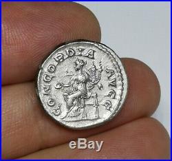 RARE Ancient roman Imperial Orbiana 225-227 AD Silver Denarius Coin