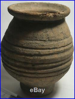 RARE Genuine ancient Roman ceramic wheel made clay coin bank vessel/Jug/Vase