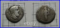 RARE Original Antique ROMAN Imperial SILVER Coin imp. Pertinax 193 A. D #085