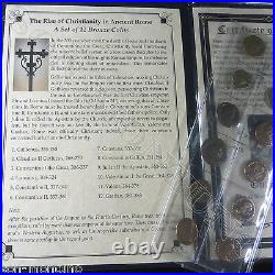 RISE OF CHRISTIANITY IN ANCIENT ROME A Set of 12 Bronze Biblical Roman Coins