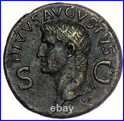 ROMAN BRONZE COIN DUPONDIUS DIVUS AUGUSTUS UNDER CALIGULA (RIC 56) AE30 15,2g