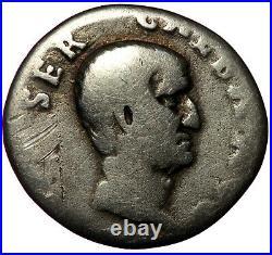 ROMAN SILVER COIN AR DENARIUS GALBA OAK WREATH (RIC 167) 2,90g 18mm