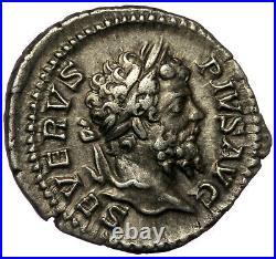 ROMAN SILVER COIN AR DENARIUS SEPTIMIUS SEVERUS VICTORY (RIC 295) 3,36g 20mm