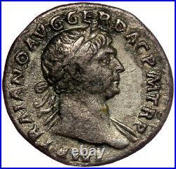 ROMAN SILVER COIN AR DENARIUS TRAJAN QUADRIGA (RIC 139) 19mm 2,89g SCARCE