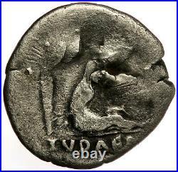 ROMAN SILVER COIN DENARIUS TITUS AS CAESAR JUDAEA CAPTA u. PALM (RIC 4) RARE