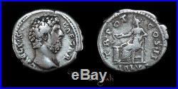 Rare Aelius Salus Ancient Roman Silver Denarius Coin 022861