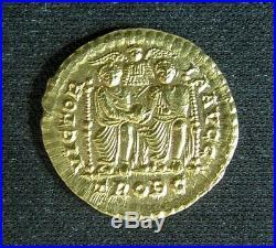 Rare Ancient Roman Coin Gold Solidus of Emperor Valentinian I (r. 364 75)