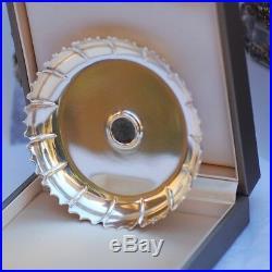 Rare Bulgari Bvlgari Sterling Silver Monete Tray Coaster Ancient Roman Coin Rare