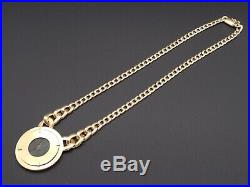 Rare Chimento 18k Yellow Gold Ancient Roman Coin Chain Link Necklace 16 inch