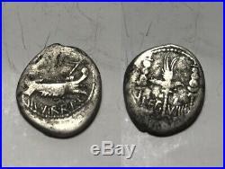 Rare Genuine ancient Roman silver coin Marc Antony Legionary Denarius AQUILLA