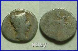 Rare Original Ancient Roman silver Coin Augustus 18-16BC Spanish mint Capricorn