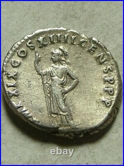 Rare ancient Roman silver coin Domitian 88 AD Denarius Athena Minerva cult spear