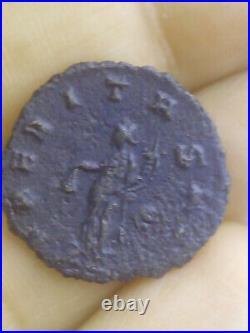 Rare ancient roman coin Laetitia goddess Emperor Gallienus 254AD