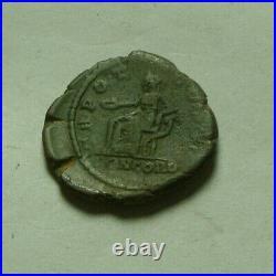 Rare genuine ancient Roman coin AE denarius Lucius Aelius Verus Caesar Concordia