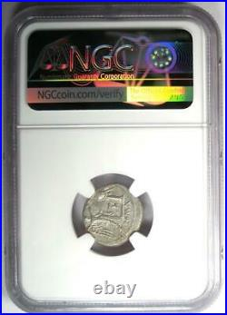 Roman AR Victoriatus Silver Jupiter Coin 211-208 BC Certified NGC MS (UNC)