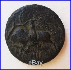 Roman Ancient Bronze City Coin Beirut Archaeology