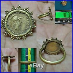 Roman Ancient Rare King Coin high carat Gold wonderful Ring # 4