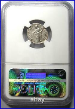 Roman Antoninus Pius AR Denarius Silver Coin 138-161 AD. Certified NGC Choice VF