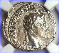 Roman Augustus AR Denarius Coin 27 BC-14 AD (Lugdunum) Certified NGC Choice VF