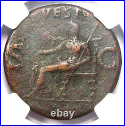 Roman Caligula AE As Copper Coin 37-41 AD Certified NGC Choice Fine