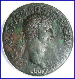 Roman Claudius AE Sestertius Copper Coin 41-42 AD Certified ANACS VF35