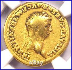 Roman Claudius Gold AV Aureus Constantia Coin 41-54 AD Certified NGC VG
