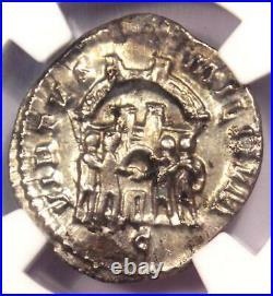 Roman Constantius I AR Argenteus Coin 305-306 AD Certified NGC Choice VF