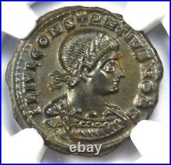 Roman Constantius II BI Nummus Coin (337-361 AD) Certified NGC MS (UNC)