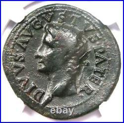 Roman Divus Augustus AE As Coin under Tiberius 22-30 AD NGC Choice Fine