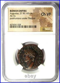 Roman Divus Augustus AE As Coin under Tiberius 22-30 AD NGC Choice VF