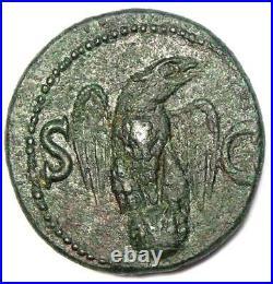 Roman Divus Augustus AE As Coin under Tiberius 34-37 AD Good VF (Very Fine)