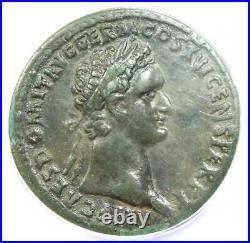 Roman Domitian AE Sestertius Copper Coin 92-94 AD Certified ANACS VF30
