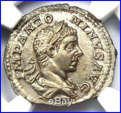 Roman Elagabalus AR Denarius Silver Coin 218-222 AD Certified NGC MS (UNC)