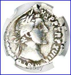 Roman Emperor Antoninus Pius Silver Denarius Coin NGC Certified With Story