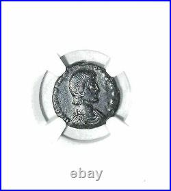 Roman Emperor Constantine Gallus Coin NGC Certified AU With Story, Certificate