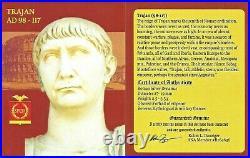 Roman Emperor Trajan Denarius Coin NGC Certified Fine With Story, Certificate