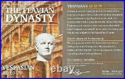 Roman Emperor Vespasian Silver Denarius Coin NGC Certified VF With Story