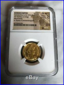Roman Empire Constantius II AD 337-661 NGC Choice Fine 5/4 ancient coin 4.5 G