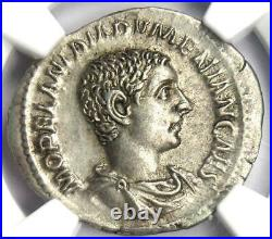 Roman Empire Diadumenian AR Denarius Coin 218 AD Certified NGC AU