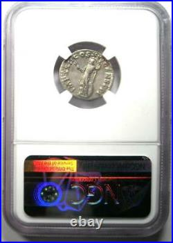 Roman Empire Domitian AR Denarius Silver Coin 81-96 AD Certified NGC XF (EF)