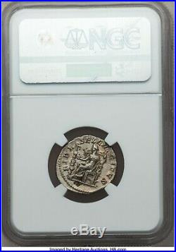 Roman Empire Elagabalus 218-222 AD AR Double Denarius NGC AU Ancient Silver Coin